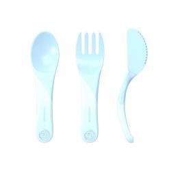 TWISTSHAKE Učiaci príbor 6+m - Pastelovo modrý