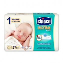 CHICCO Plienky Chicco Ultra Newborn 2-5kg 27ks