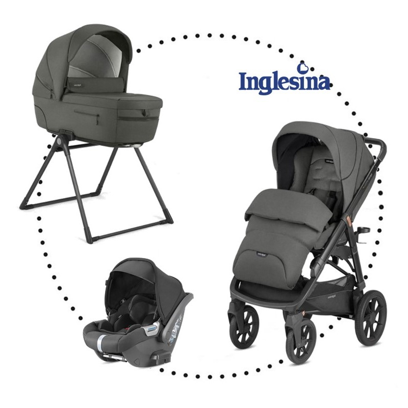 INGLESINA Aptica XT 3.kombinácia - Charcoal Grey hlboká vanička, športová sedačka, autosedačka Darwin