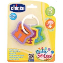 CHICCO Hryzátko kľúče na krúžku 3m+
