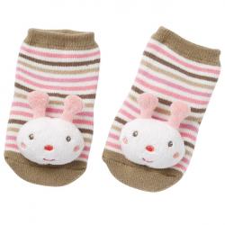 BABYFEHN Forest Hrkajúce ponožky ružové