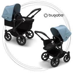 BUGABOO Donkey 3 Mono 2. kombinácia Podvozok BLACK poťah športového sedadla, hlboká vanička BLACK strieška VAPOR BLUE