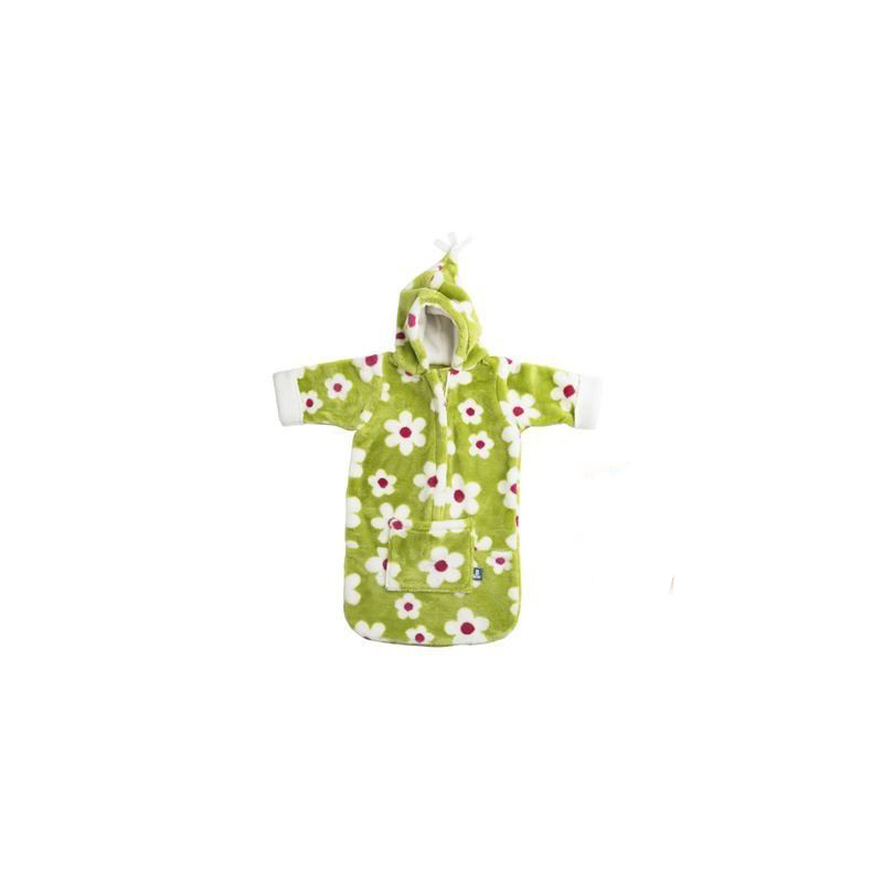 BUGGYSNUGGLE Spací vak Lime Flower Fur BABY170