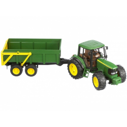 BRUDER Traktor s vlečkou