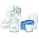 AVENT SCF 330/20 Odsávačka mlieka Natural+5ks VIA 180ml