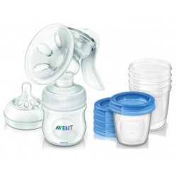 AVENT SCF 330/20 Odsávačka mlieka Natural+5ks VIA 180ml