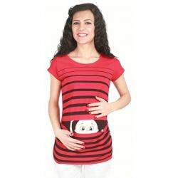 MAMIMODE Tričko s motívom GUCK GUCK Red krátky rukáv