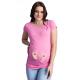 MAMIMODE Tričko s motívom BABY FUSSE Pink krátky rukáv