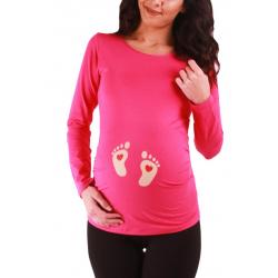 MAMIMODE Tričko s motívom BABY FUSSE Coral