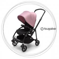 BUGABOO Bee 6 Podvozok BLACK poťah športového sedadla BLACK strieška SOFT PINK