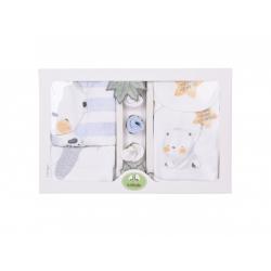 KITIKATE Novorodenecký 10-dielny set Organic Little Friends Blue