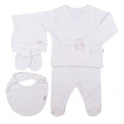 KITIKATE Novorodenecký 5-dielny set Organic White