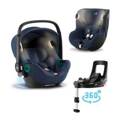 BRITAX-ROMER Baby-Safe iSense+Báze FLEX BASE Isense+autosedačka DUALFIX iSense - Indigo Blue