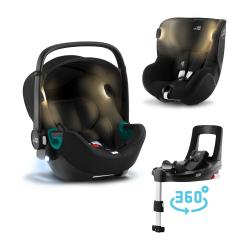 BRITAX-ROMER Baby-Safe iSense+Báze FLEX BASE Isense+autosedačka DUALFIX iSense - Space Black