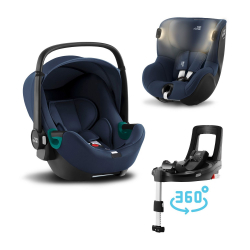 BRITAX-ROMER Baby-Safe 3 i-Size+Báze FLEX BASE Isense+autosedačka DUALFIX iSense - Indigo Blue