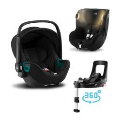 BRITAX-ROMER Baby-Safe 3 i-Size+Báze FLEX BASE Isense+autosedačka DUALFIX iSense - Space Black