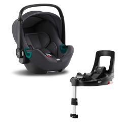 BRITAX-ROMER Baby-Safe 3 i-Size Bundle Flex iSense - Midnight Grey