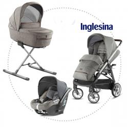 INGLESINA Aptica quattro 4v1, podvozok, hlboká vanička, športové sedadlo, autosedačka CAB mineral grey