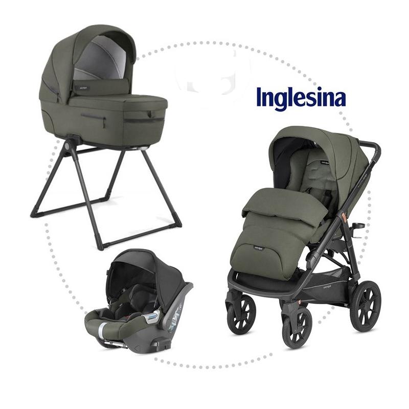INGLESINA Aptica XT 3.kombinácia - Seqoia Green hlboká vanička, športová sedačka, autosedačka CAB
