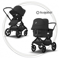 BUGABOO Fox 3 - 2. kombinácia Podvozok Black / Black
