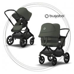 BUGABOO Fox 3 - 2. kombinácia Podvozok Black / Forest Green