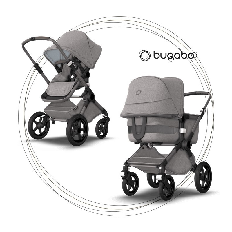 BUGABOO Fox 3 - 2. kombinácia Podvozok Graphite / Light Grey ( Mineral Colection )