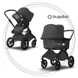 BUGABOO Fox 3 - 2. kombinácia Podvozok Black / Washed Black ( Mineral Colection )
