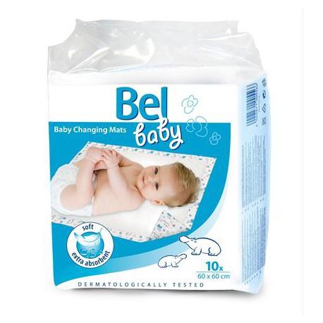 BEL BABY Prebaľovacie podložky 60x60 cm 10 ks