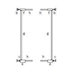 BABYDAN Predlžovací diel 2x 7cm PREMIER PET GATE