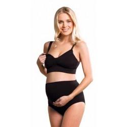 CARRIWELL Bezšvová podprsenka na kojenie GELWIRE čierna