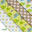 T-TOMI Látkové plienky Zelený slon, 4ks