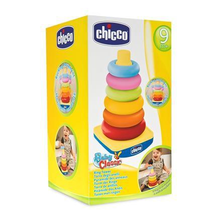CHICCO Skladacia veža s krúžkov