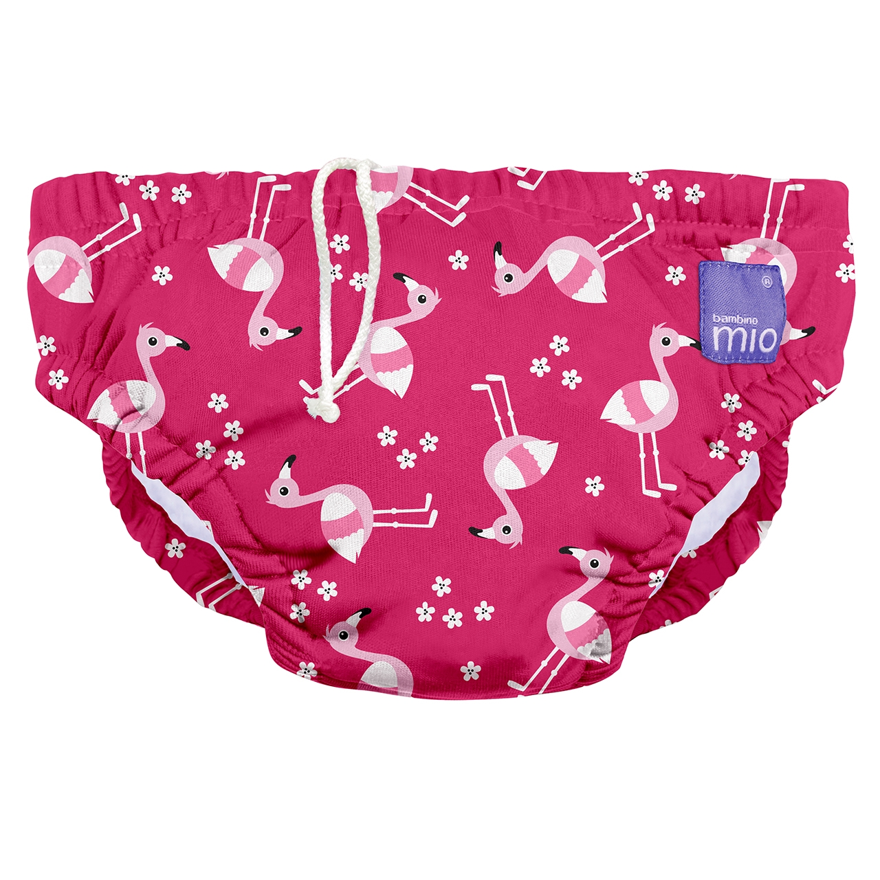 BAMBINO MIO Detské plavky pink flamingo veľ. S