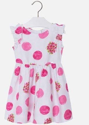 MAYORAL Šaty s guľôčkami Fuchsia