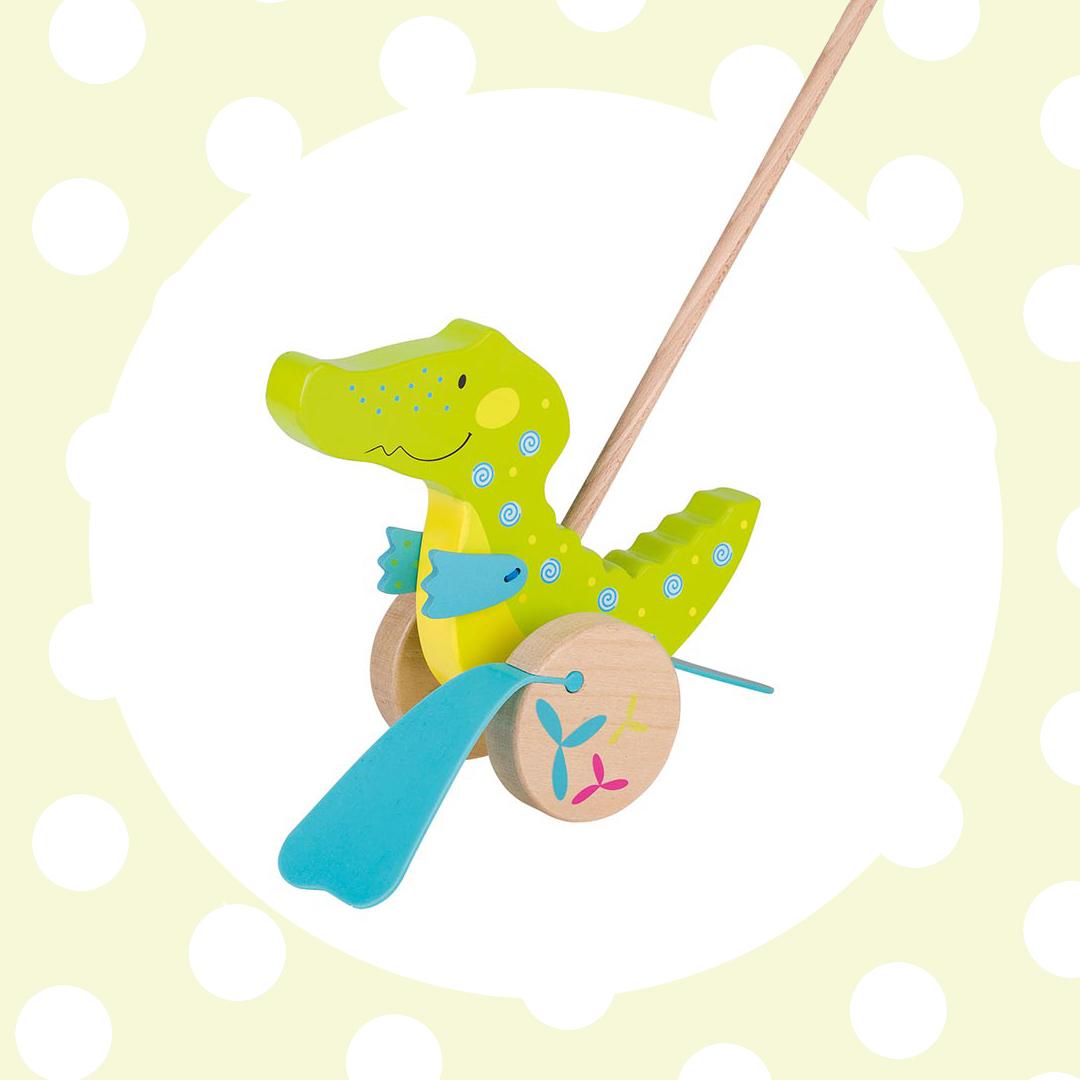 GOKI Zvieratko na tyči Krokodíl Susibelle