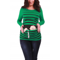 MAMIMODE Tričko s motívom Baby Flucht Dark Green