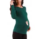MAMIMODE Tričko s motívom Baby Fusse Dark Green
