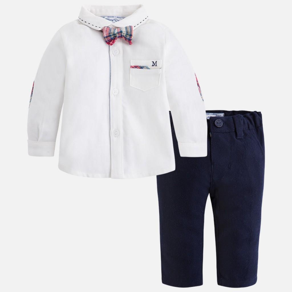 MAYORAL Košeľa s motýlikom + nohavice