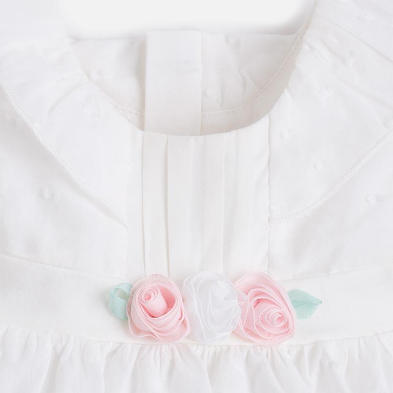 7fa378565634 MAYORAL Šaty s ružičkami + nohavičky Crudo - BabyMarket