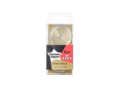 TOMMEE TIPPEE Cumlíky pre Fľaše THICK 6m+