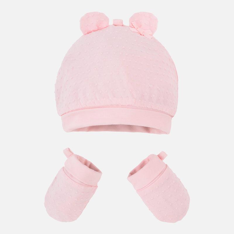 MAYORAL Čiapka + rukavičky Rosa Baby