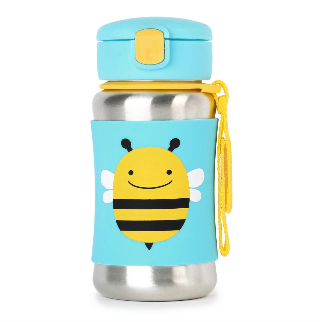 SKIP HOP Zoo Flaša na vodu nerez - Včielka 12m+