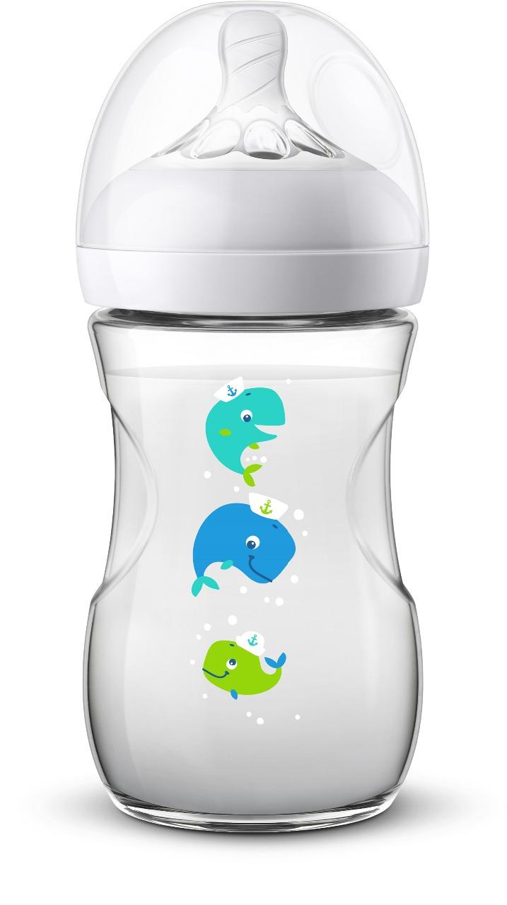 AVENT NATURAL 2 Fľaša 260 ml Veľryba