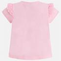 MAYORAL Tričko ružové +biely kvietok, krátky rukáv