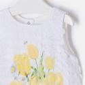 MAYORAL Šaty so žltými kvetmi Amarillo