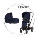 CYBEX Priam Rose Gold športový kočík midnight blue lux plus, hlboká vanička midnight lux plus