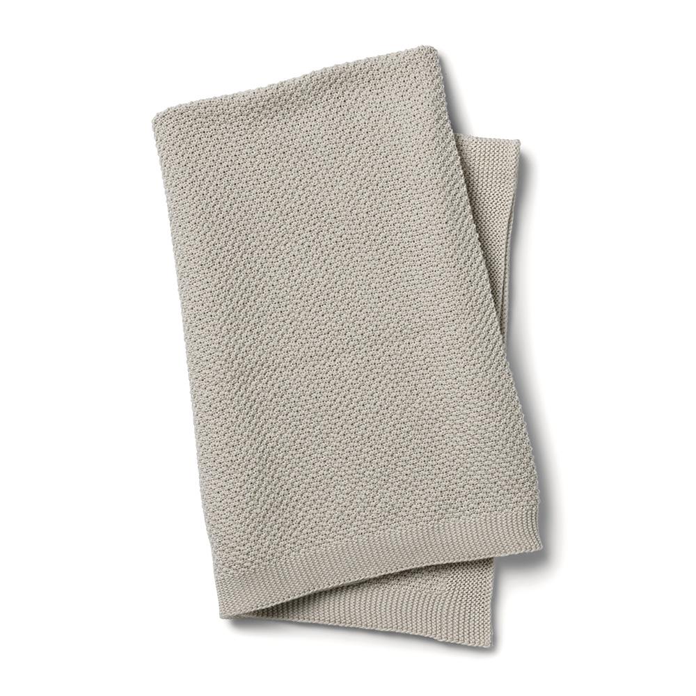 ELODIE DETAILS Deka bavlnená moss knitted greige