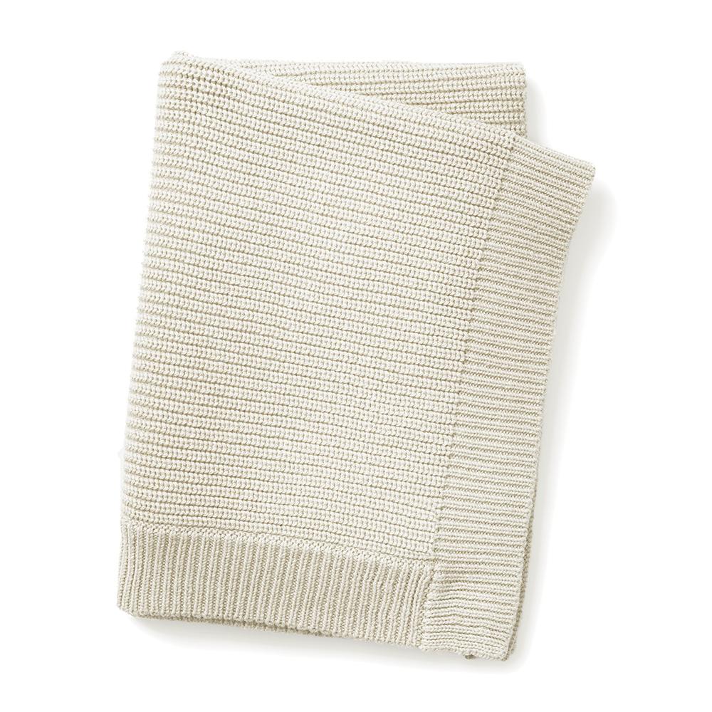 ELODIE DETAILS Deka bavlnená moss knitted vanilla white