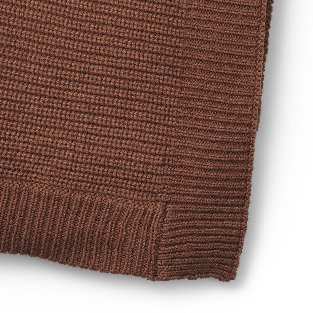 ELODIE DETAILS Deka bavlnená moos knitted burned clay