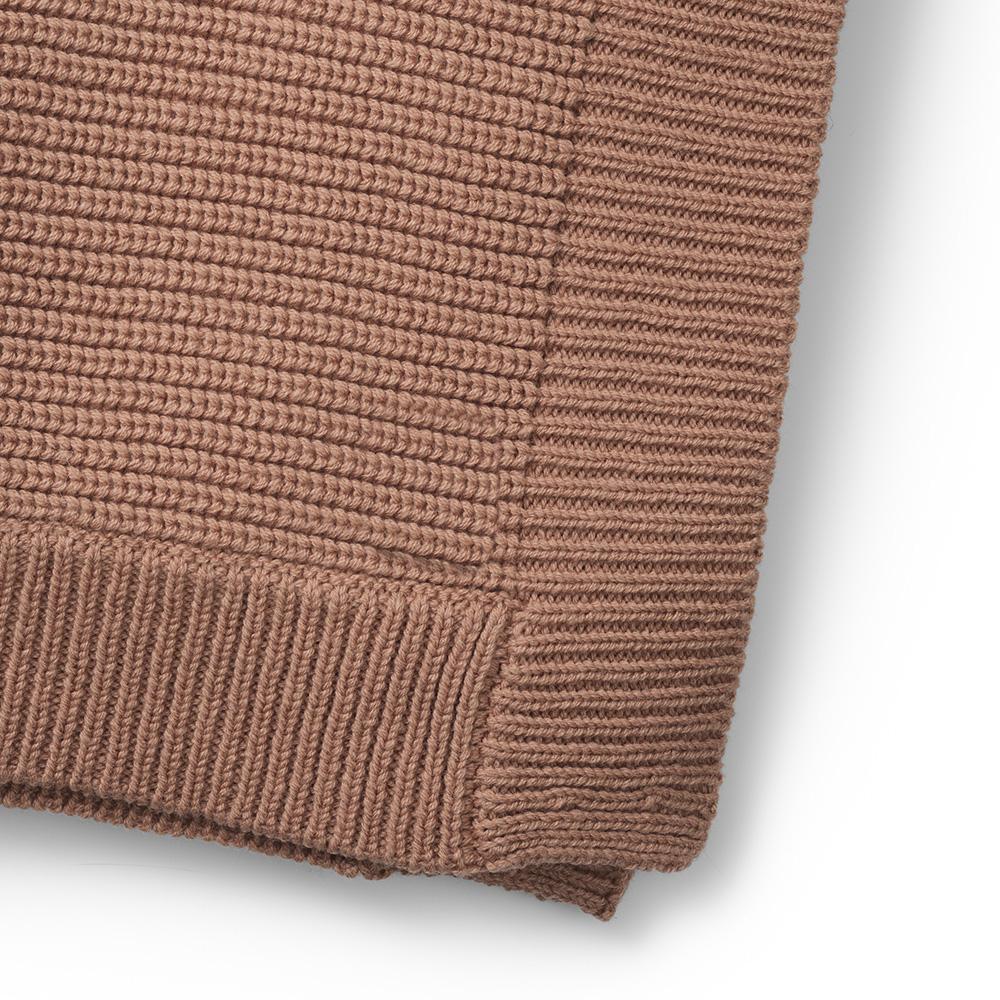 ELODIE DETAILS Deka bavlnená moss knitted faded rose